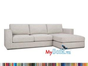 sofa góc nỉ MyS-1912432 kê nhà chung cư hiện đại