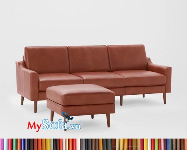 mẫu sofa văng dài MyS-1912309 màu da bò sang trọng