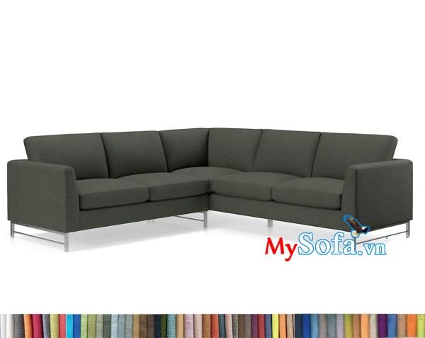 MyS-2001661 Ghế sofa nỉ kiểu dáng góc V hiện đại