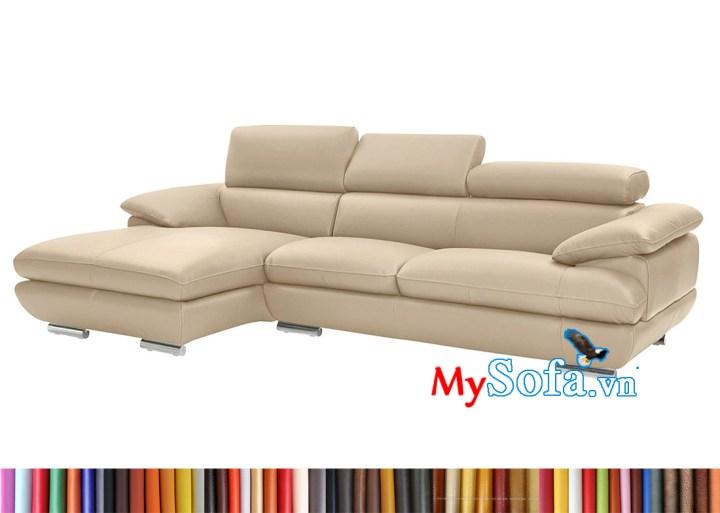 ghế sofa da góc chữ L MyS-2001951 đẹp