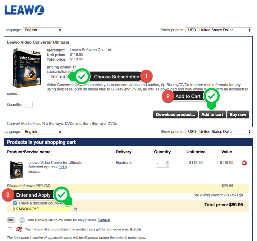 Leawo discount coupon
