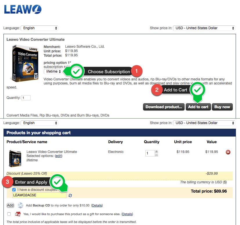 buy leawo save 25%