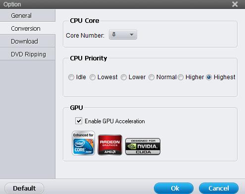 CPU and GPU Setting