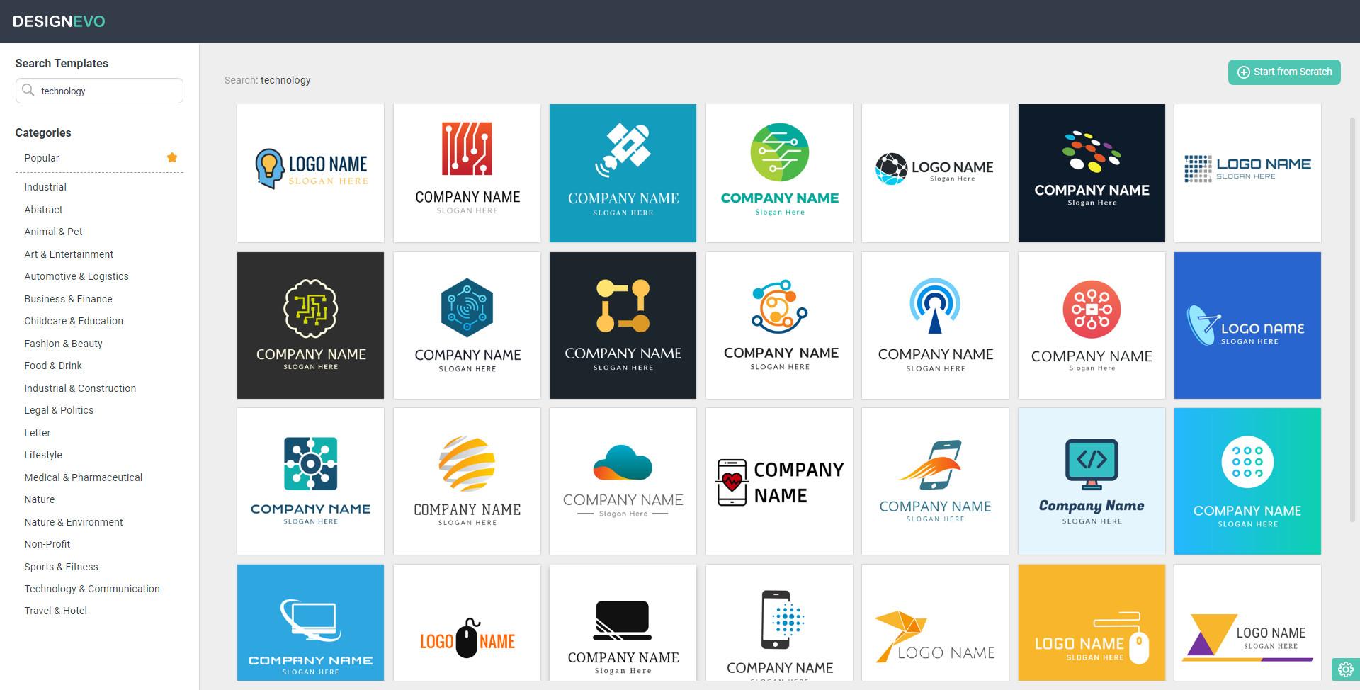 3,000+ Logo Templates