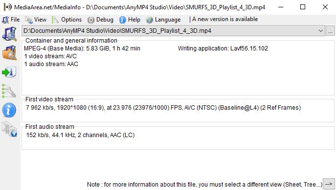 3d mp4 output detail