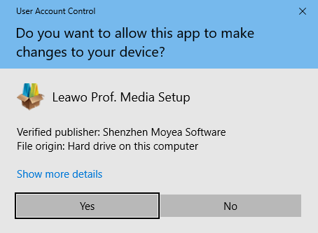 install leawo allow change