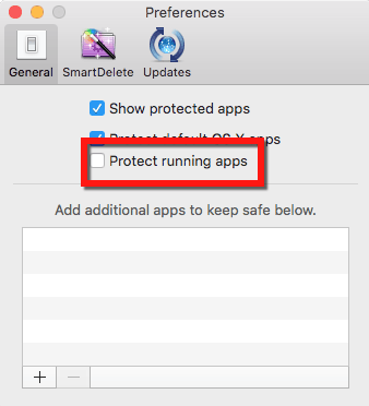 uncheck prevent running apps
