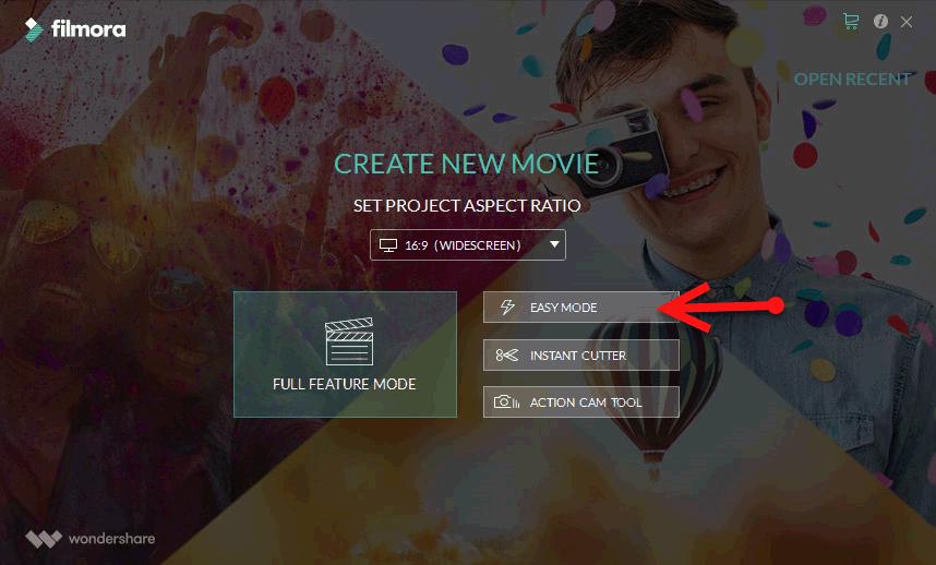 filmora easy mode