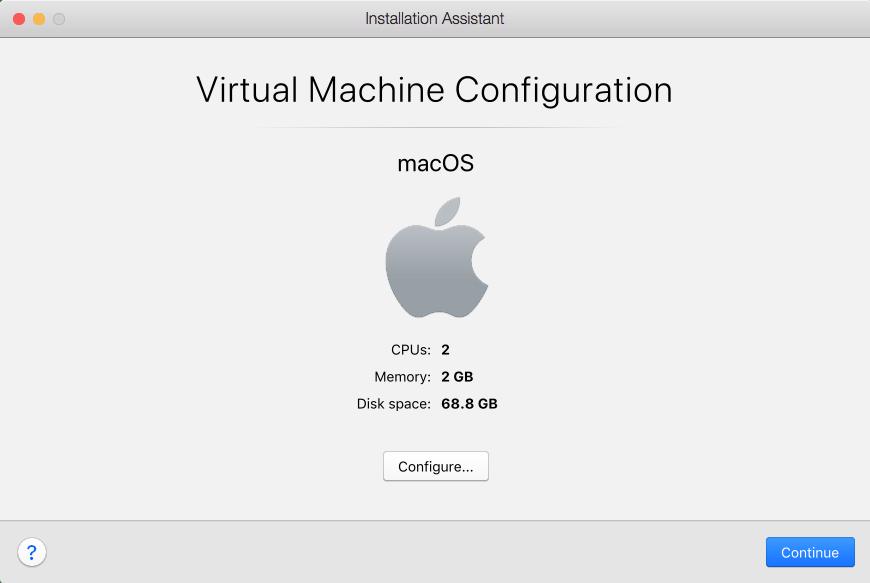 vm configuration