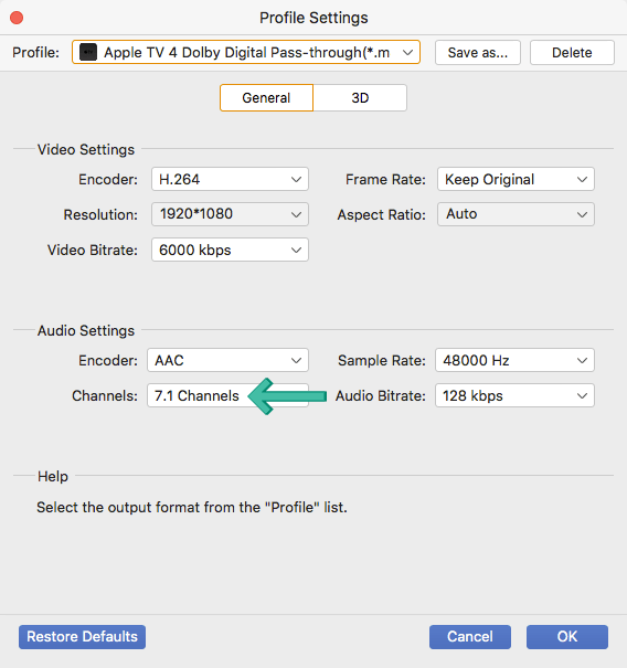 AnyMP4 7.1 Channels
