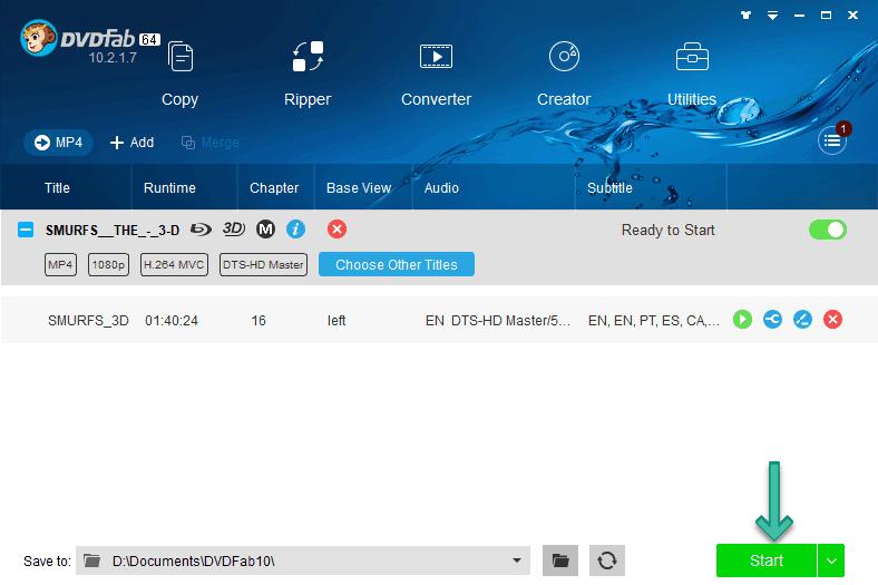 Start Remux Bluray to MP4 MKV