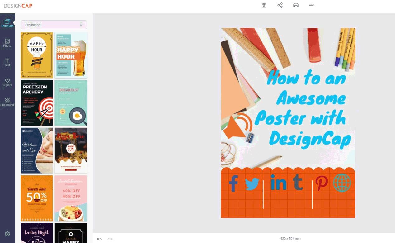 DesignCap Make Poster