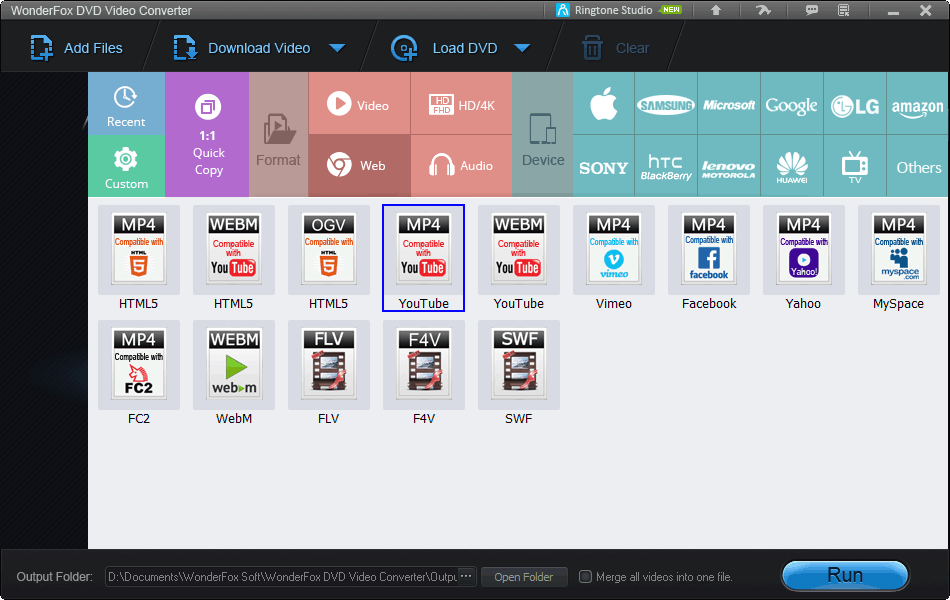 WonderFox Web Optimized Profiles