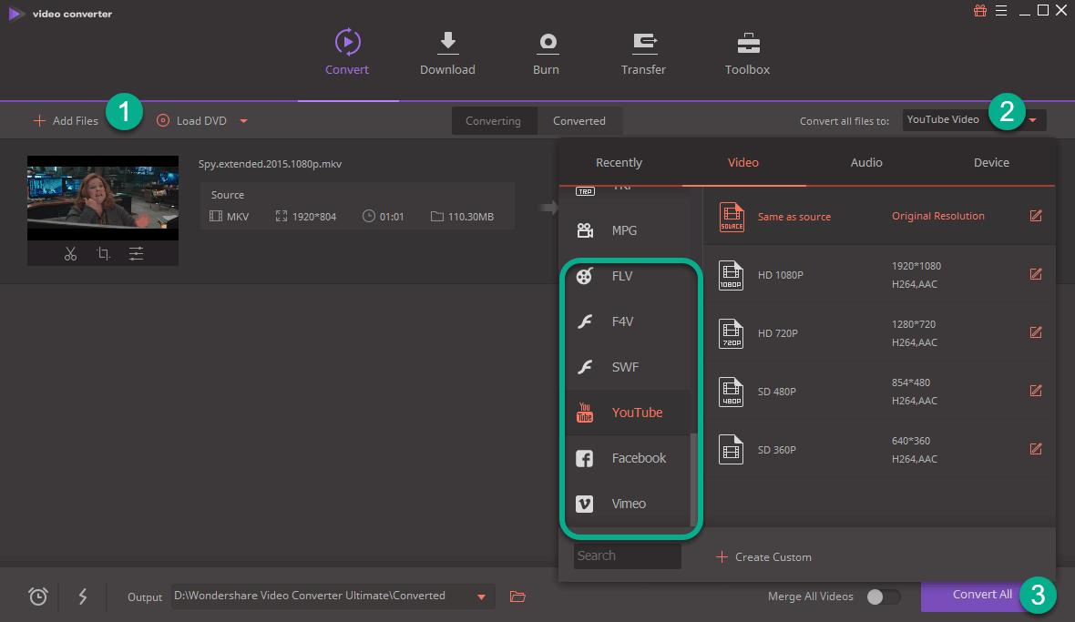 Wondershare Web Profiles