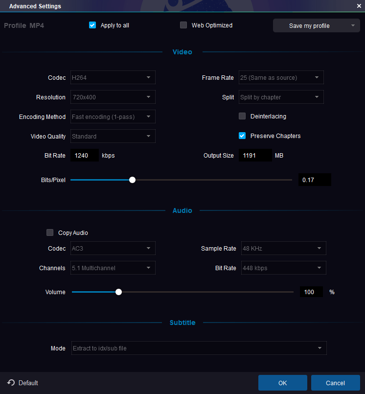 DVDFab Advanced Settings