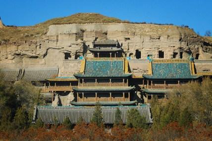 Yungang Grottoes - the uninspiring entry way