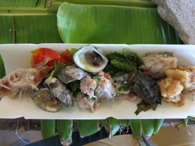 Seafood lunch at 'Oholei Beach Resort