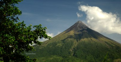 Mount Mayon, as seen from one of the roads that circumnavigate it.