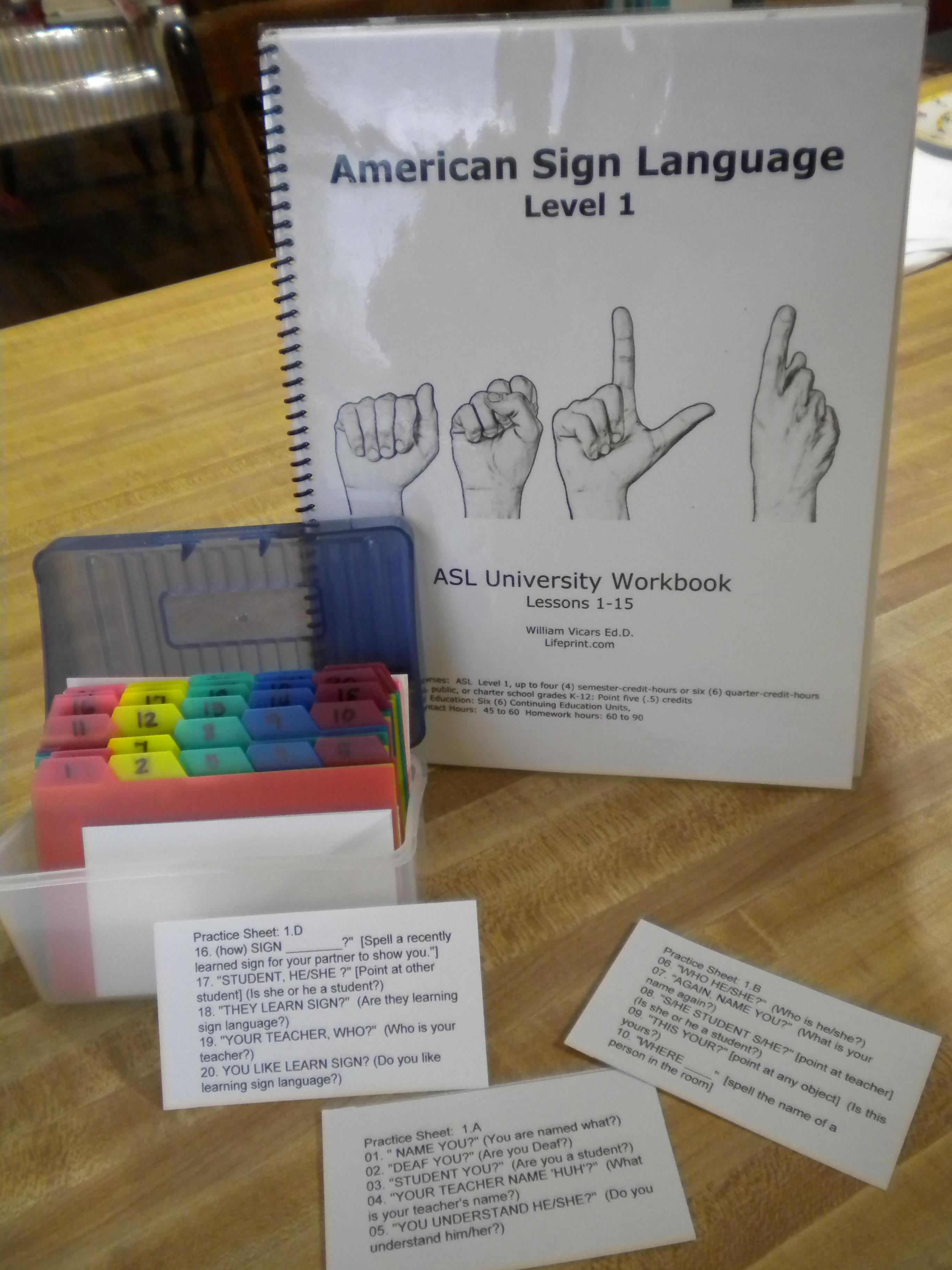 Asl Sign Practice Box