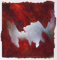 """Shall Give To Their Thoughts the Secret Fire, acrylic on paper, 15"""" x 15"""" $700"""