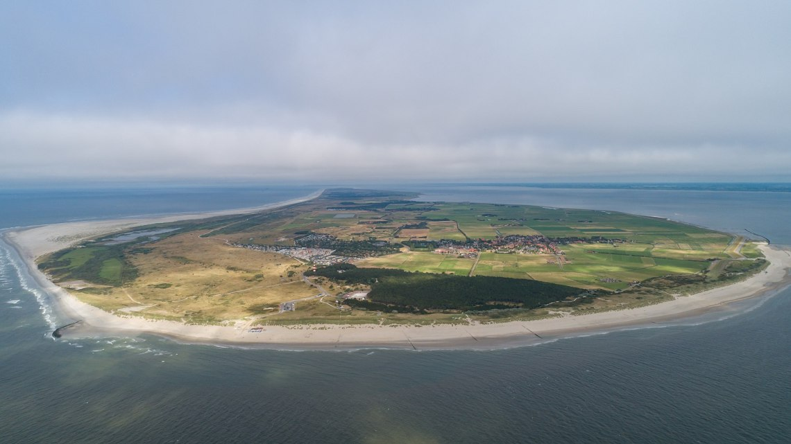 Areal image of Ameland seen from the west
