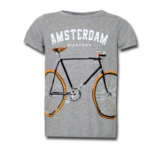 Amsterdam Biketown Grey Kids T-shirt