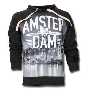 Amsterdam Canal Dark Grey Hooded Sweater