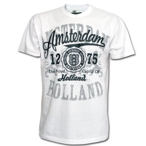 Amsterdam 1275 Patch T-shirt White