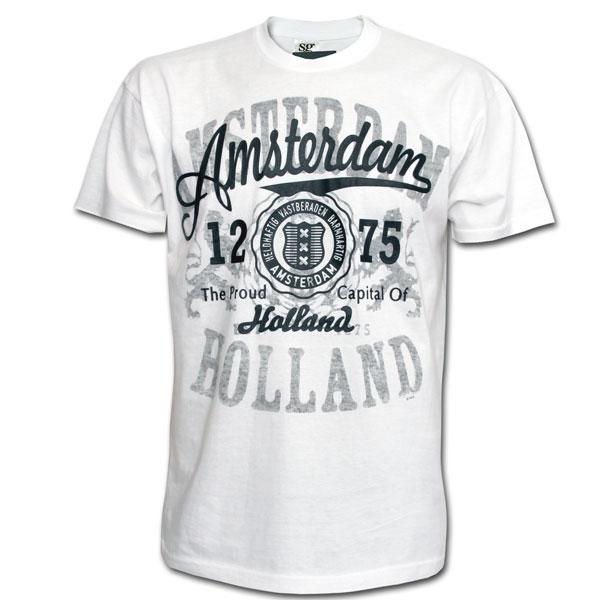 Amsterdam 1275 Patch T-shirt White