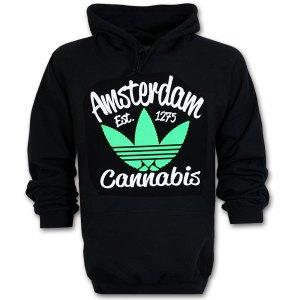 Amsterdam Cannabis Hoodie Fluor Green