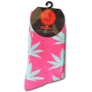 Wiet Sokken Dames Groen / Roze