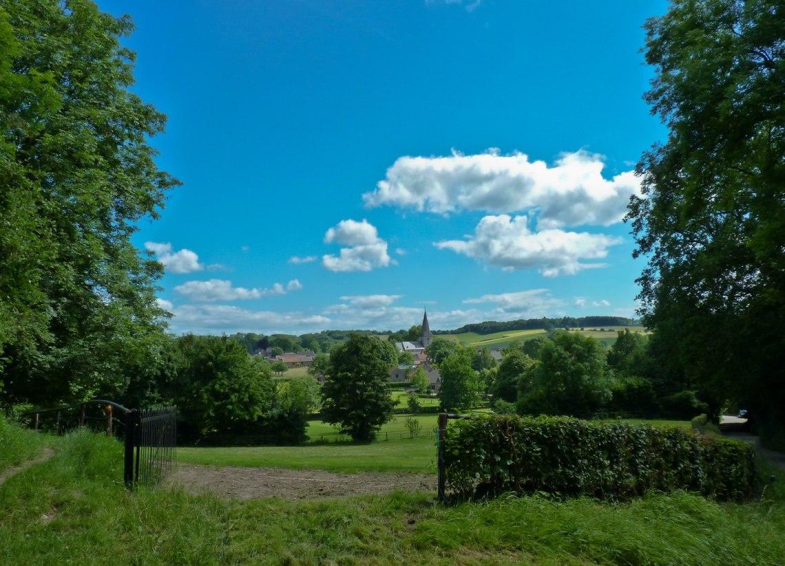 Uitzicht op het dorp Noorbeek