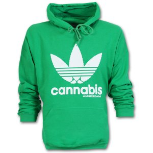 Amsterdam Cannabis Hoodie Kelly Green