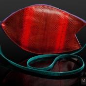 Дизайнерская женская сумочка из натуральной кожи змеи Akula красная