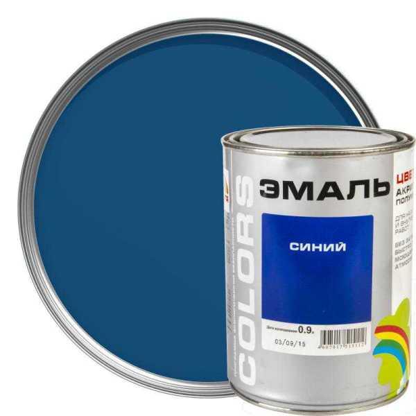 Эмаль РАДУГА ВДАК-220 «COLORS» синий 0,9л (1.3кг) - Совушка