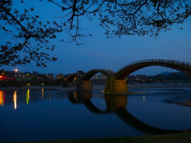 Kintai bridge in the night