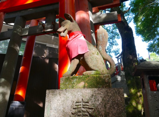 photo of a japanese fox statue