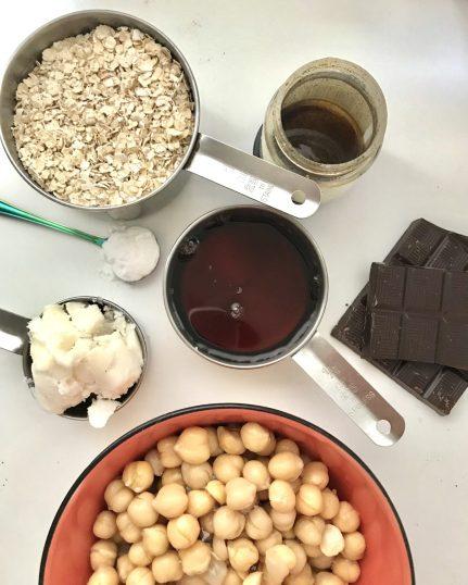 ingredients for a vegan blondie