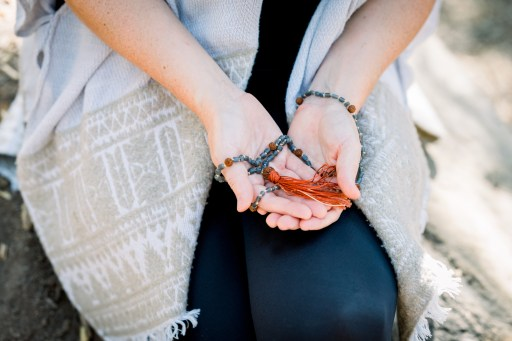 rosary beads, chanting, spiritual practices when traveling, mindfulness