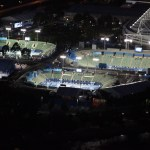 Melbourne Park at night, home of the Australian Open