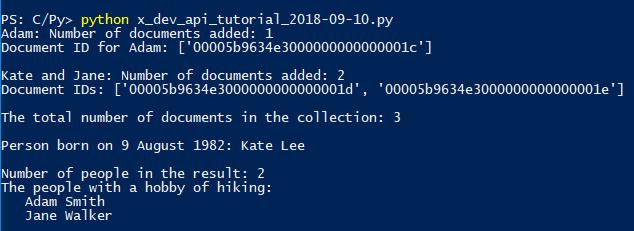 NoSQL/X DevAPI Tutorial with MySQL Connector/Python 8 0 –