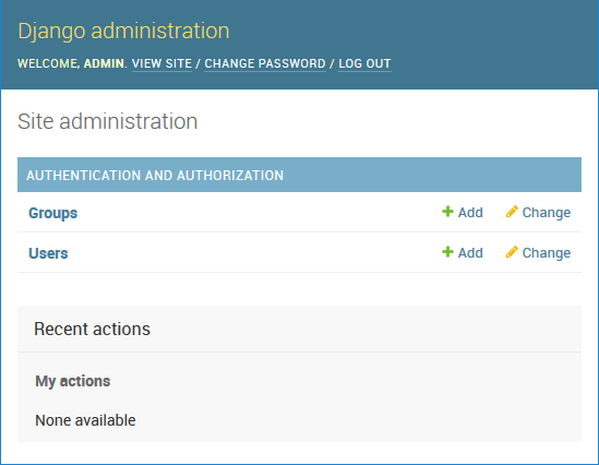 Django Administration Screen using MySQL as the backend