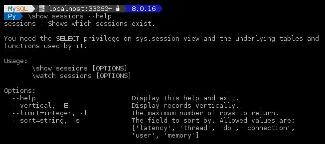 MySQL Shell 8 0 16: User Defined Reports –