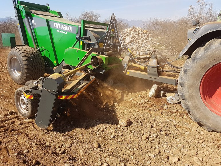 Get Rid of Rocks Using the Tractor