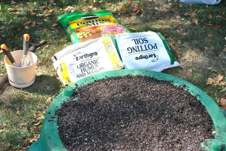 Potting Soil Storage Ideas