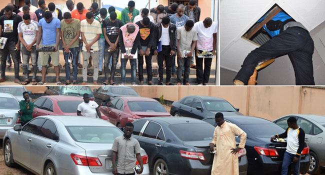 EFCC Arrests 27 Suspected Yahoo-Boys In Osogbo, Recovers Eight Exotic Cars