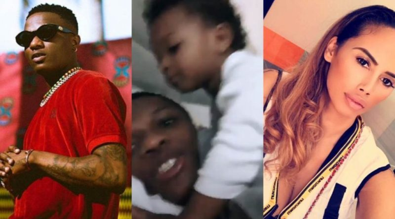 Wizkid shares video with his son