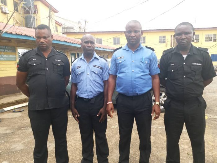 The Lagos State Police Command has arrested four policemen for extra-judicial killings and for shooting dead two unarmed suspects in Lagos, Southwest Nigeria.