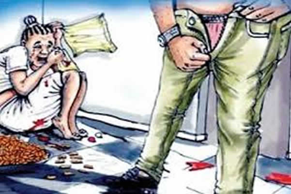 64-year old man rapes his four daughters