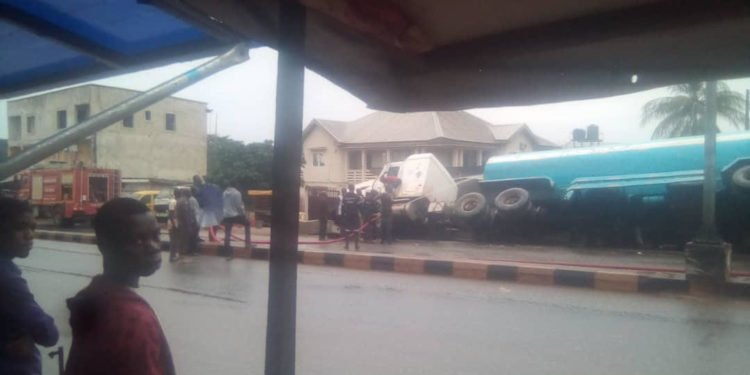 Tension as another Petrol tanker falls